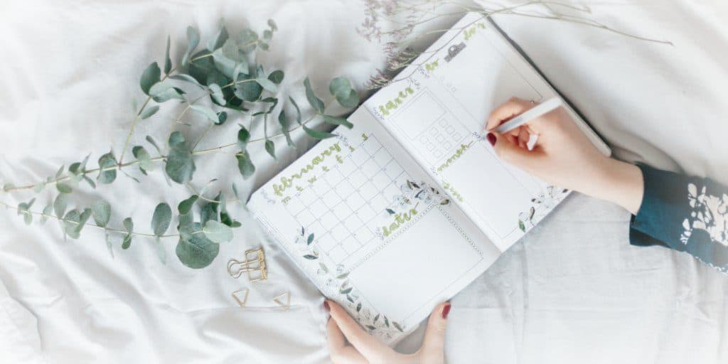 writing down habits in a calendar 2