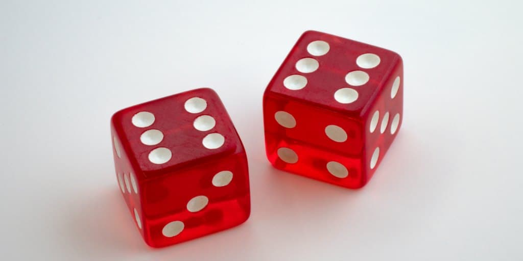 red dice with double sixes