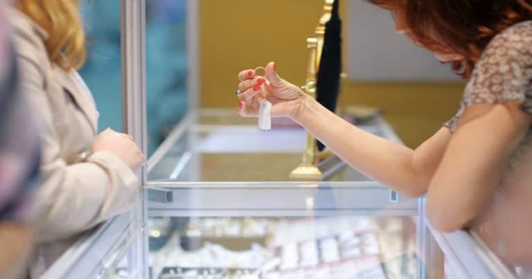 woman working in a jewelry store